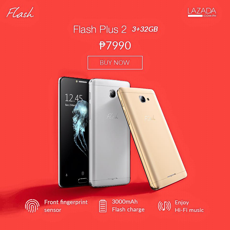 Flash Plus 2 With 3 GB RAM On Sale At Lazada For 7990 Pesos Only!