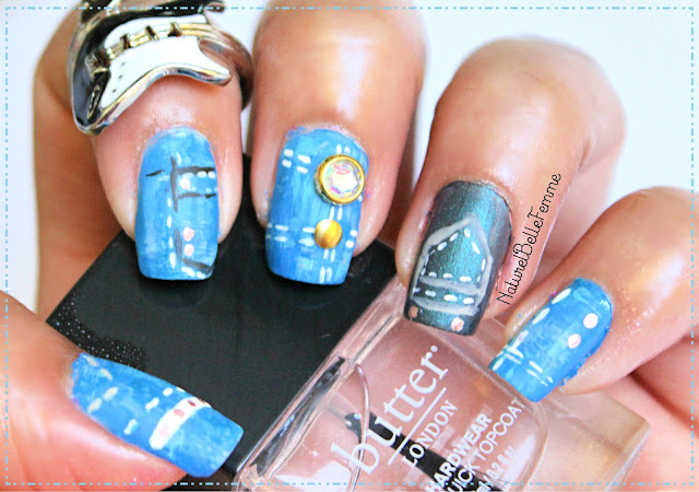 dry brush denim nails