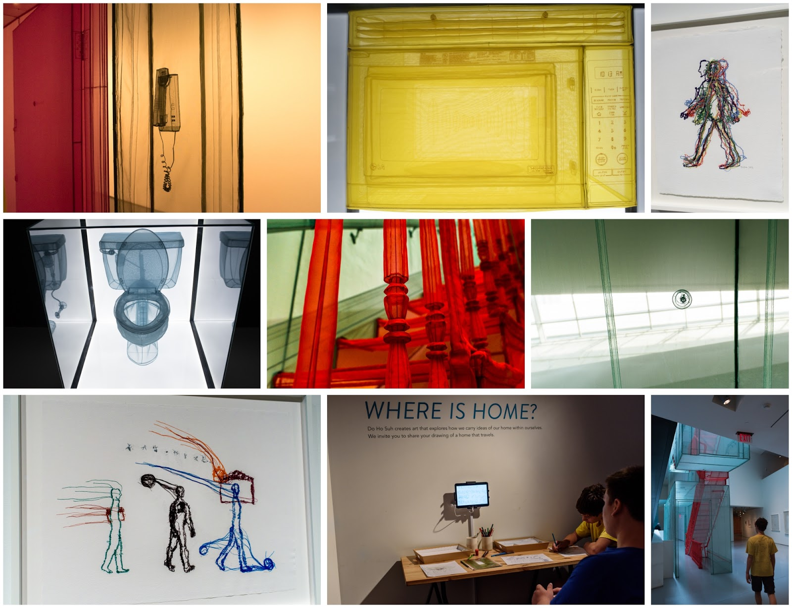 Collage of images from CAC Do Ho Suh exhibit (taken by Diana Sherblom)