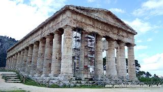 Vista do templo de Segesta, Sicilia