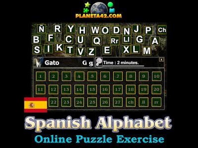 Spanish Alphabet Puzzle