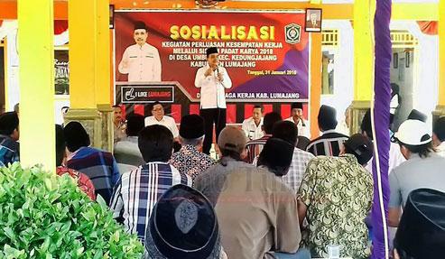Sosialisasi Padat Karya yang diselenggarakan di Balai Desa Umbul