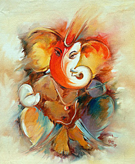lord ganesha paintings art collection