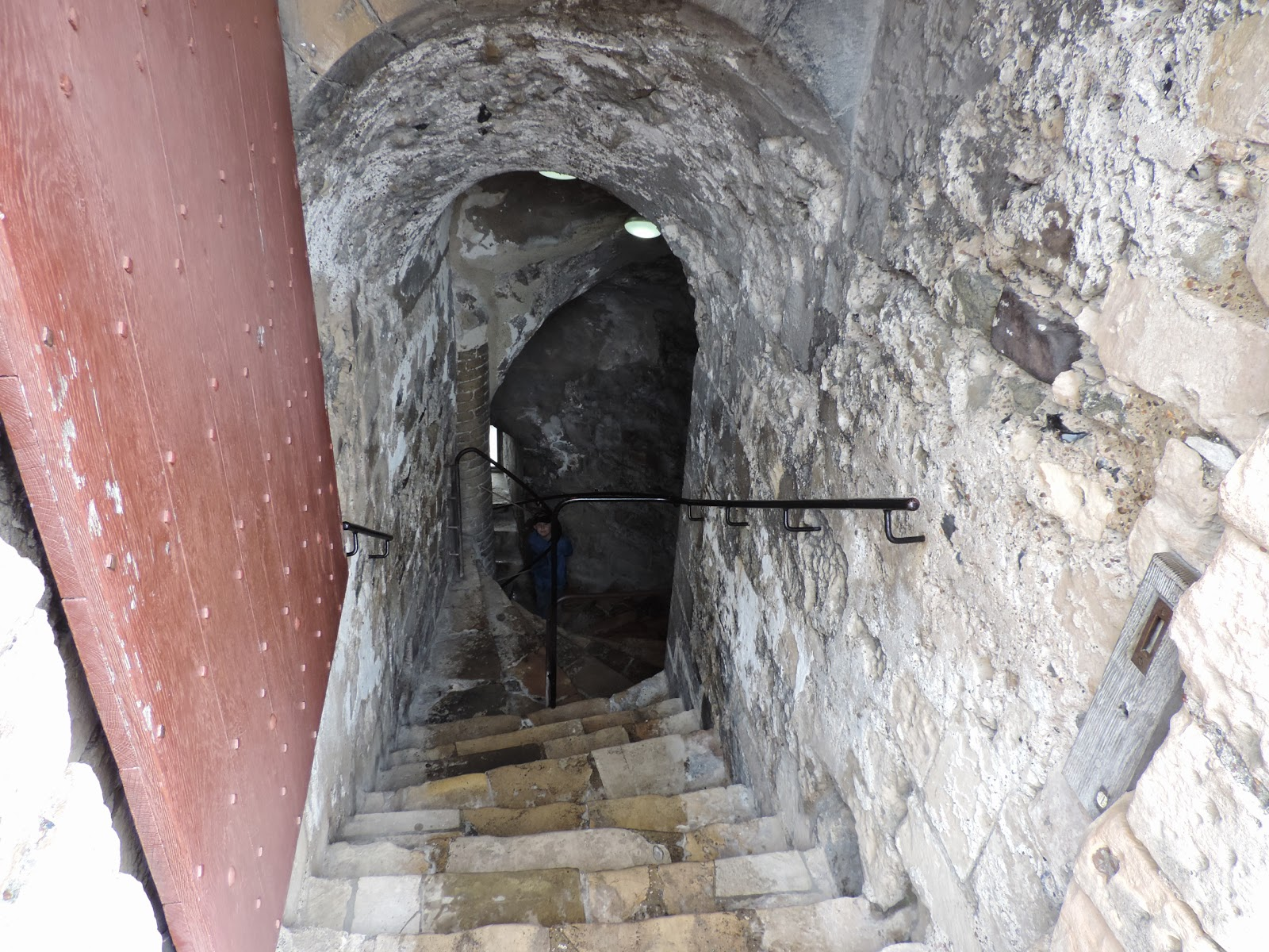 stone passages and stairs in great tower dover castle
