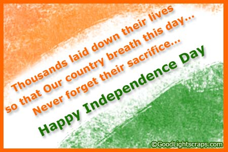 Slogans on Indian Independence Day 2017