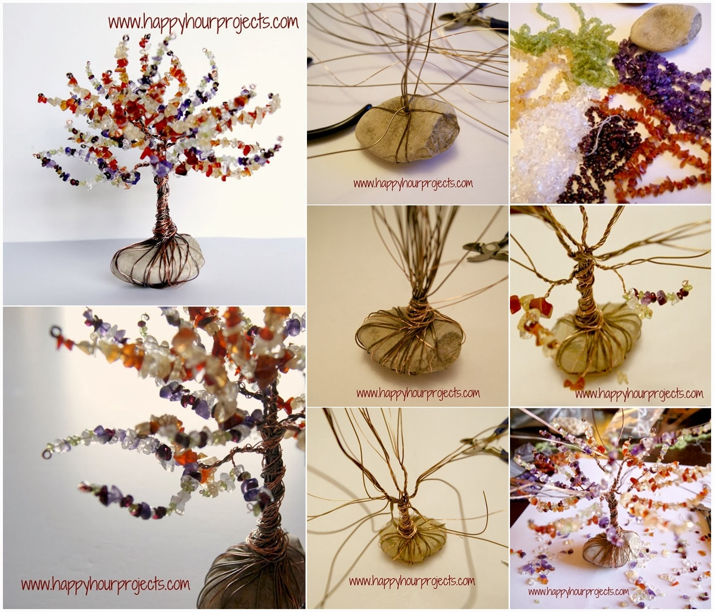 diy wire wrapped tree diy craft projects. Black Bedroom Furniture Sets. Home Design Ideas