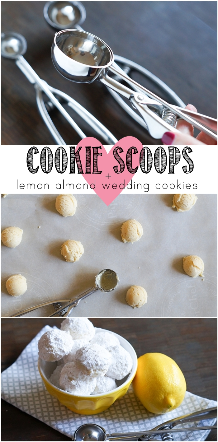cookie scoops 101 + lemon almond wedding cookies