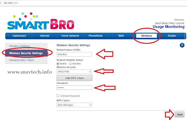 How to change Password on Prepaid Smart Bro Pocket WiFi LTE