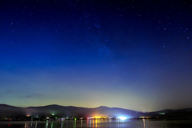 星空と山中湖~長池親水公園