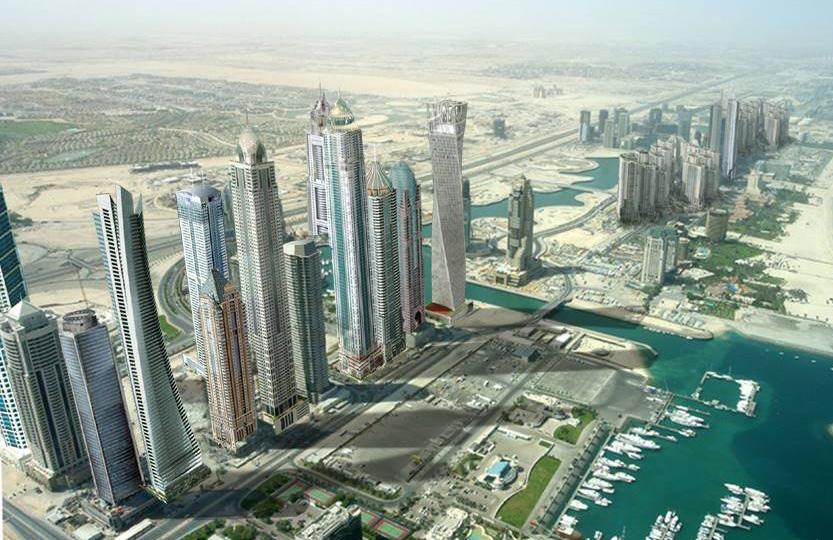Paisley Curtain: Dubai skyline