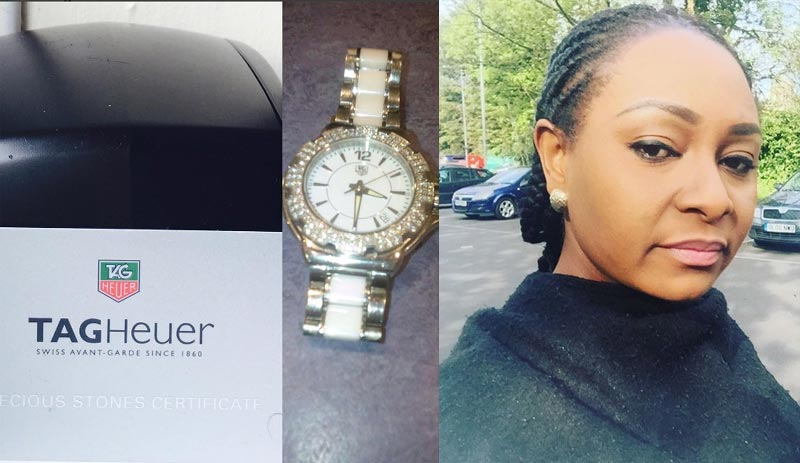 Actres Victoria Inyama begs people to help find her stolen limited edition watch