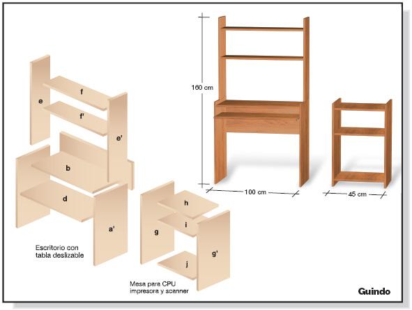 diy mueble de melamina plano para mobiliario de
