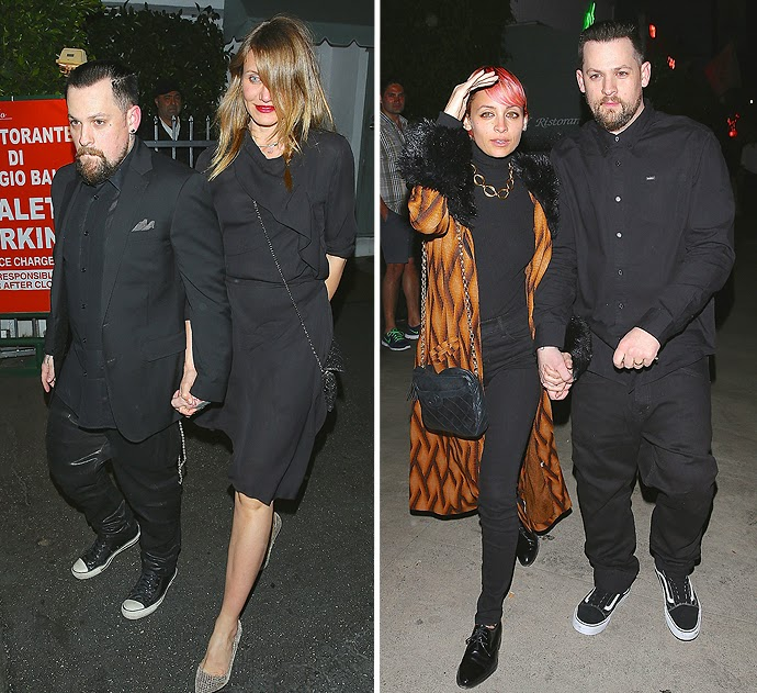 Cameron Diaz And Nicole Richie Do A Valentine's engagement With The Madden Bros.