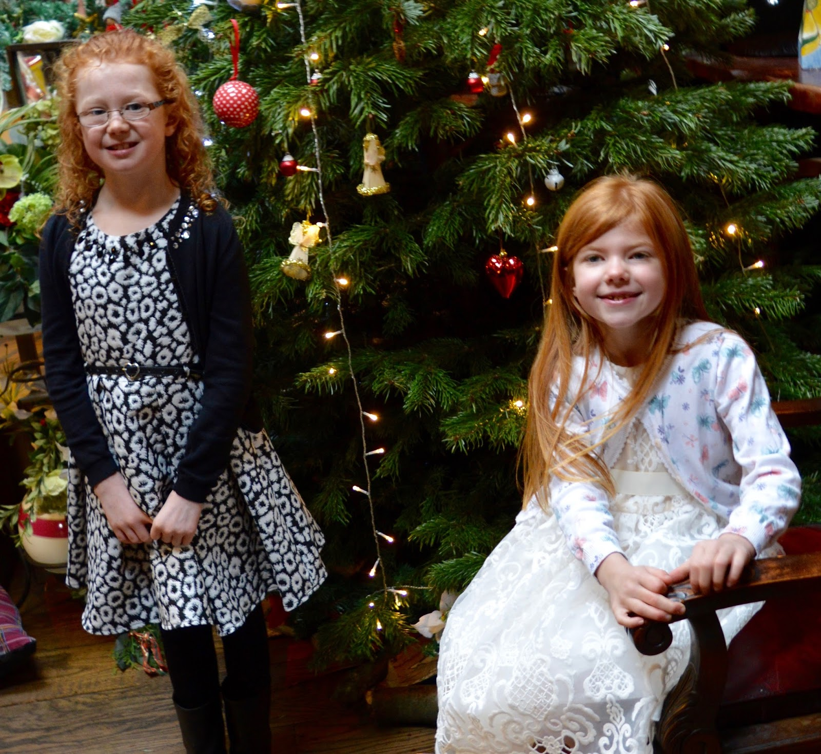 A Girl's Christmas Party Dress from Roco - Christmas tree at South Causey Inn