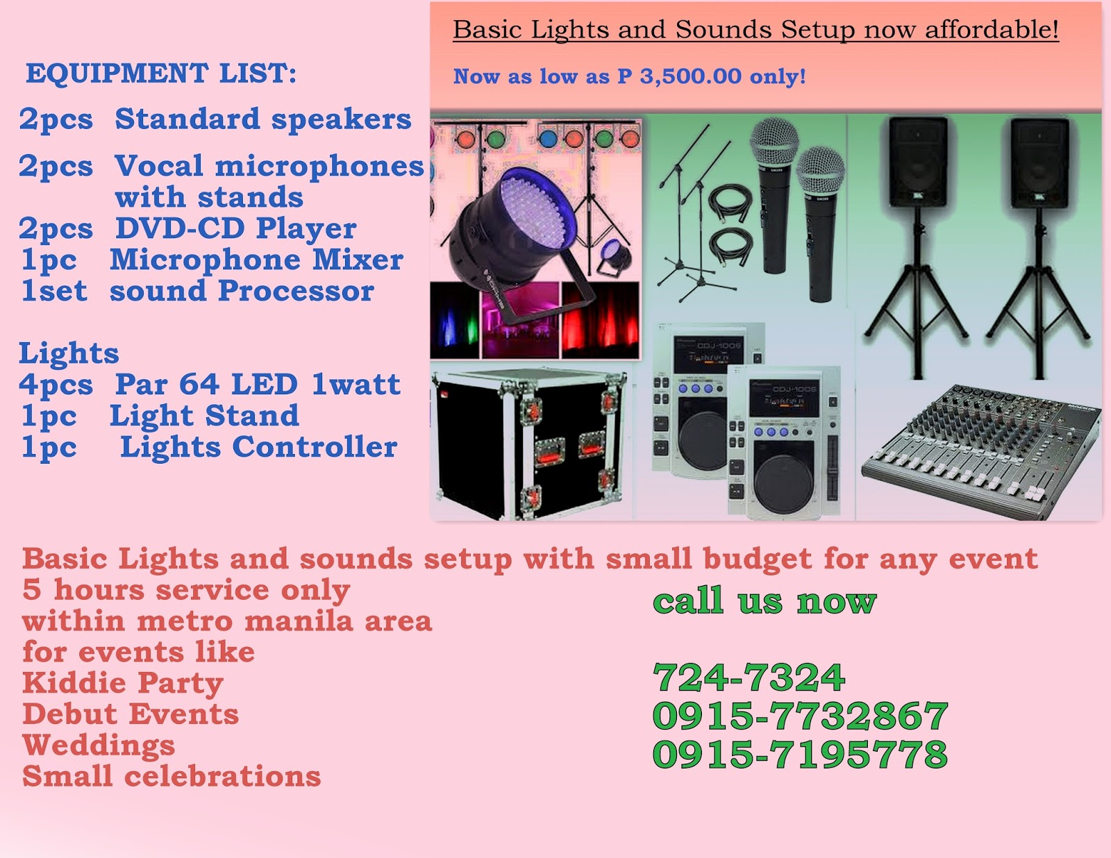Sound System Rental Manila 8thbeat Basic Pa System Debut