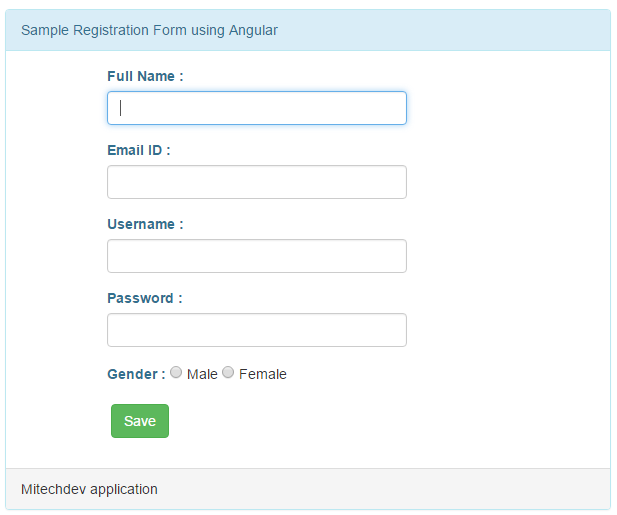 Registration page using angular js in asp.net mvc5