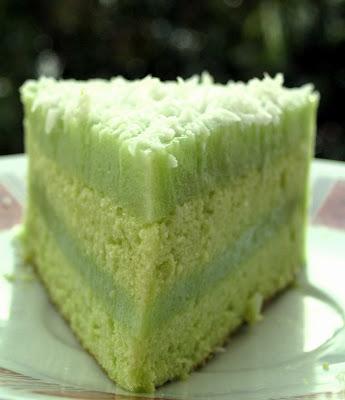 Pandan Chiffon Layer Cake Recipe