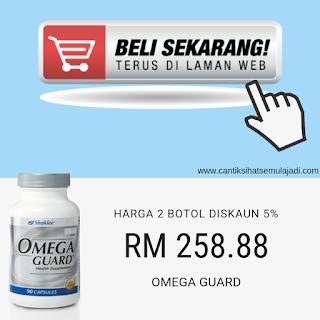Beli Sekarang Online Omega Guard Minyak Ikan Shaklee 2 botol diskaun 5%