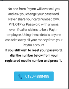 Paytm Password Number
