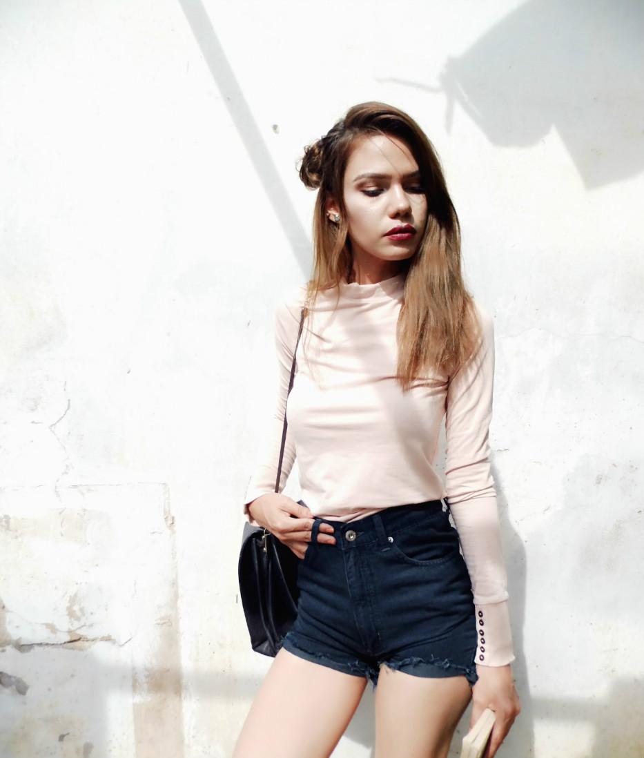 outfits con shorts altos