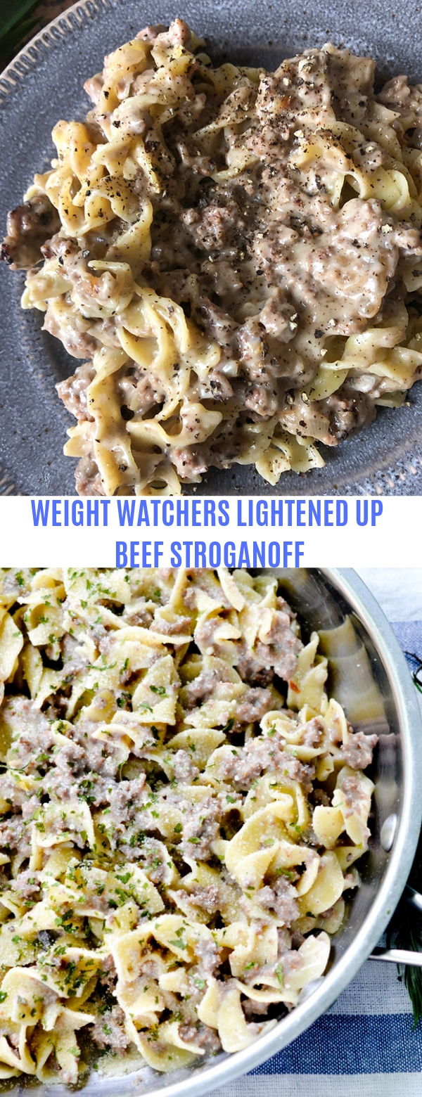 WEIGHT WATCHERS LIGHTENED UP BEEF STROGANOFF