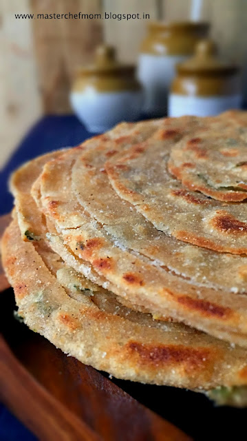 Lachha Paratha | Lachha Paratha with Pudina( Mint Leaves) |