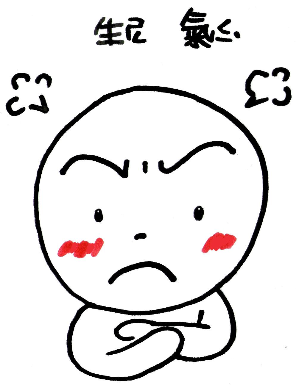 赤豬圈: 表情特徵 -- 生氣