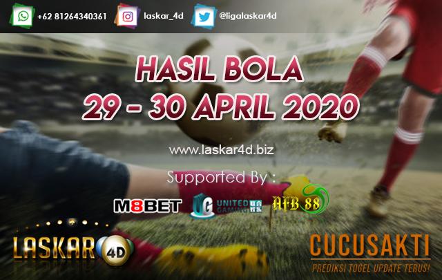 HASIL BOLA JITU TANGGAL 29 – 30 APRIL 2020