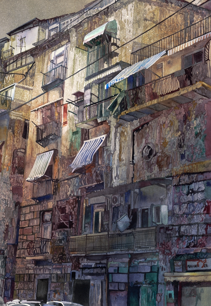 14-Neapolitan-Mood-John-Salminen-Watercolor-Paintings-Taking-Glimpses-into-our-Life-www-designstack-co