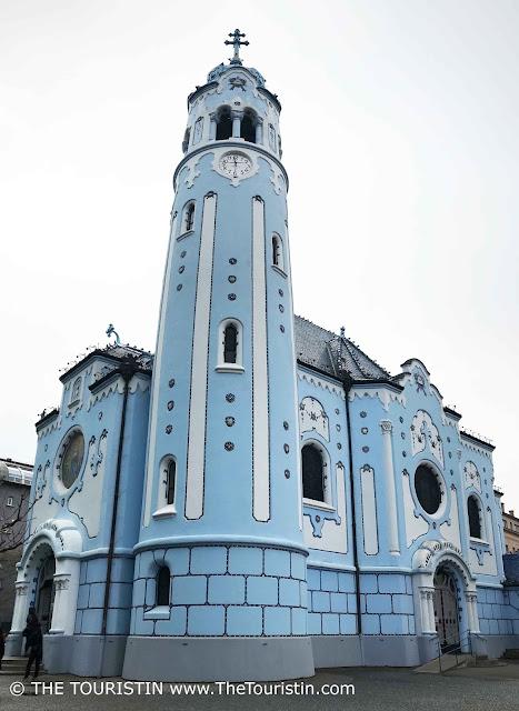 The blue church St. Elizabeth in Bratislava in Slovakia