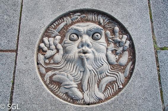 Detalle de alcantarilla de Estocolmo