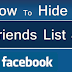 How Can We Hide Our Friends On Facebook