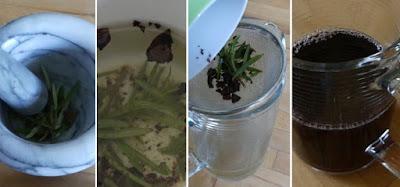 Zubereitung Trauben-Rosmarin-Aperitif