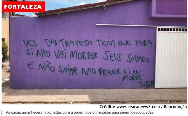 Facção GDE invade bairro em Fortaleza e expulsa dezenas de famílias de suas casas