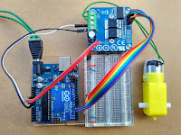 HIGH CURRENT MOTOR DRIVER H-BRIDGE MODULE IBT-2 MENGGUNAKAN ARDUINO