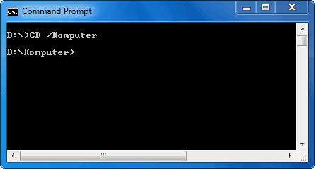 Berpindah ke Folder atau Direktori Komputer