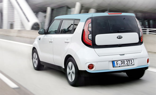 Kia Soul EV rear view