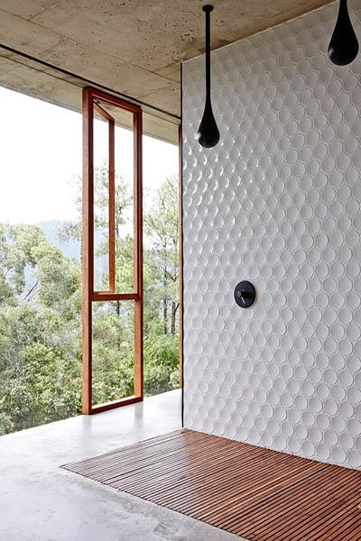 douche italienne carrelage et teck architecte