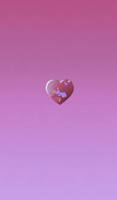 Goldfish Sheepskin Red Pink Heart