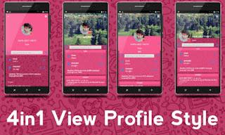 BBM IMessenger v7 Cute Theme Pink v3.0.1.25 APK Terbaru