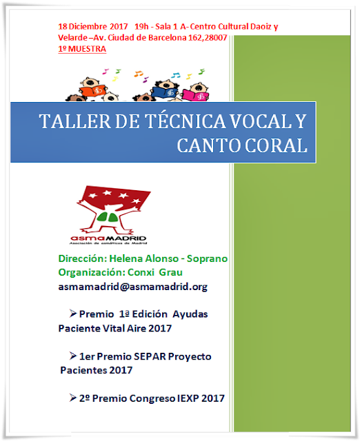 1ra. Muestra Coro Asmamadrid - Taller canto coral