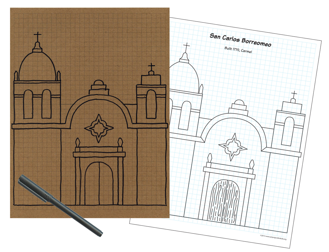 ca missions coloring pages - photo #8