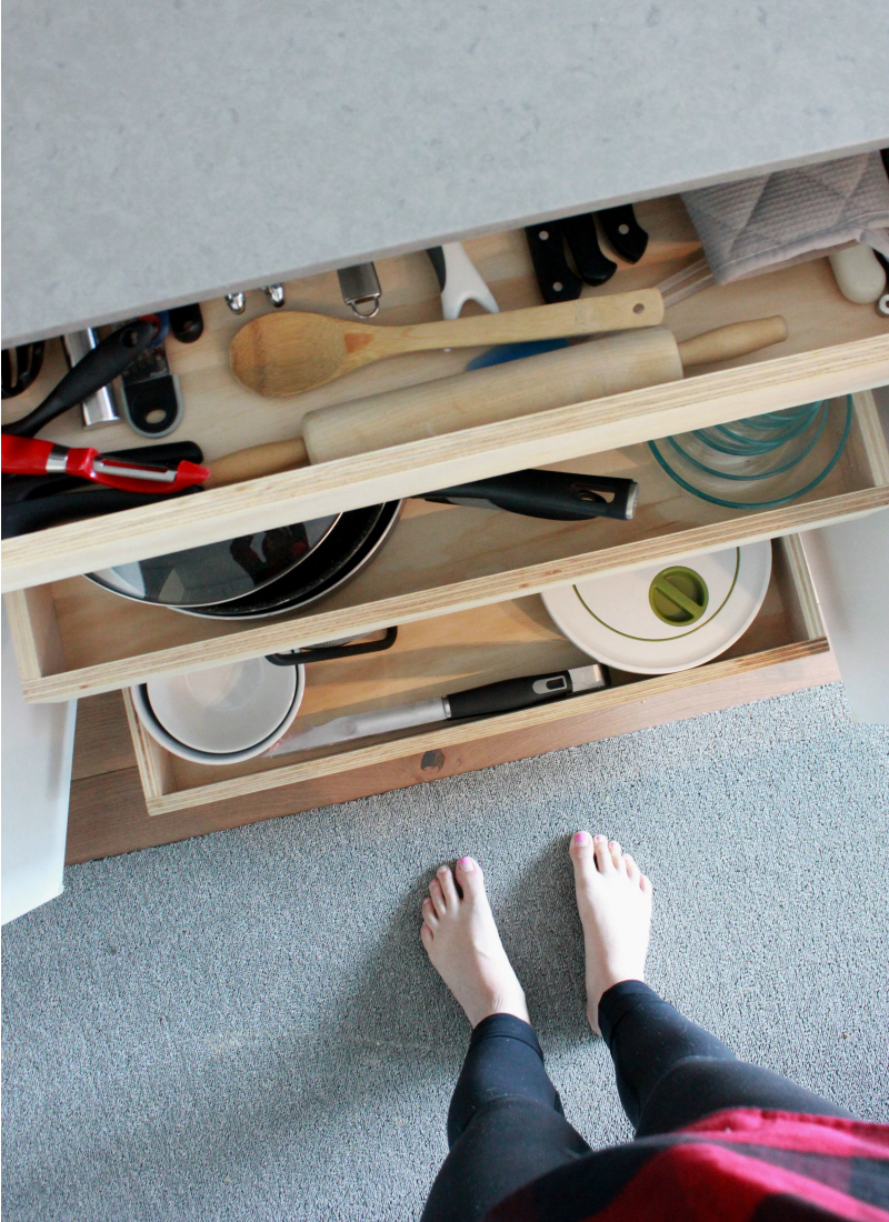 Custom Kitchen Roll-Out Drawers