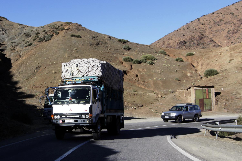 Camión en las carreteras de Marruecos