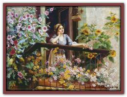 Девушка на балконе (по картине Daniel Ridgway)