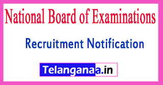 National Board of Examinations Recruitment Notification 2017 Last Date ninety Days