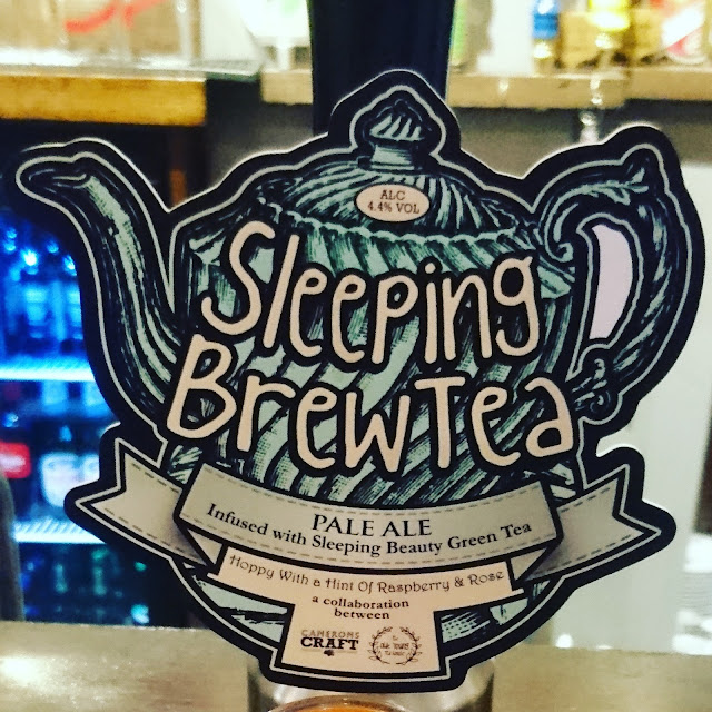 County Durham Craft Beer Review: Sleeping Brewtea from Camerons real ale pump clip