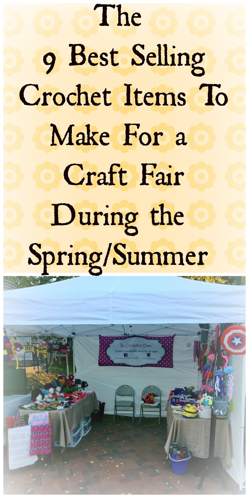 9 best selling crochet items for a warm weather craft fair