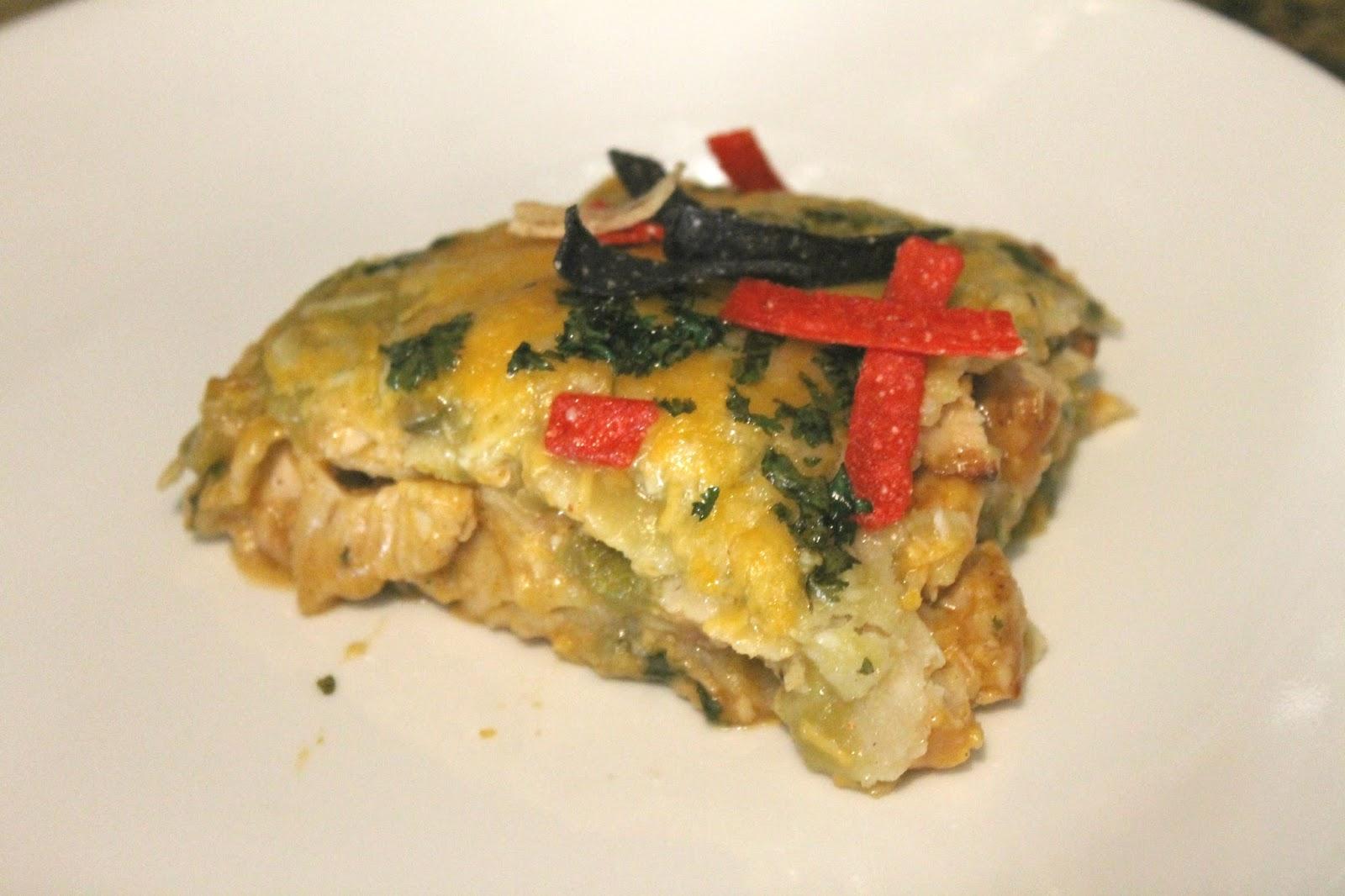 Crafts By Sarah Liz: Chicken Verde Enchilada Lasagna