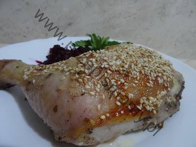 Udka z kurczaka w sezamie